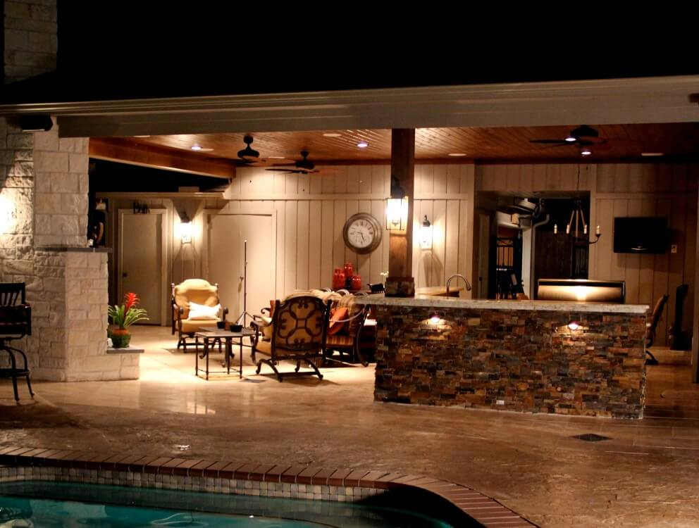 Outdoor Living Room Design, Houston, Dallas, Katy - Texas Custom ...