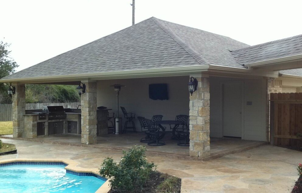 patio cover off the garage