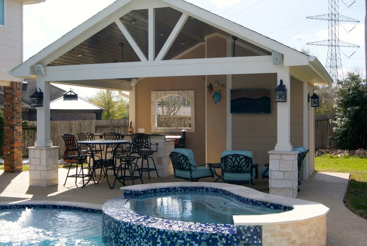 League City pool house