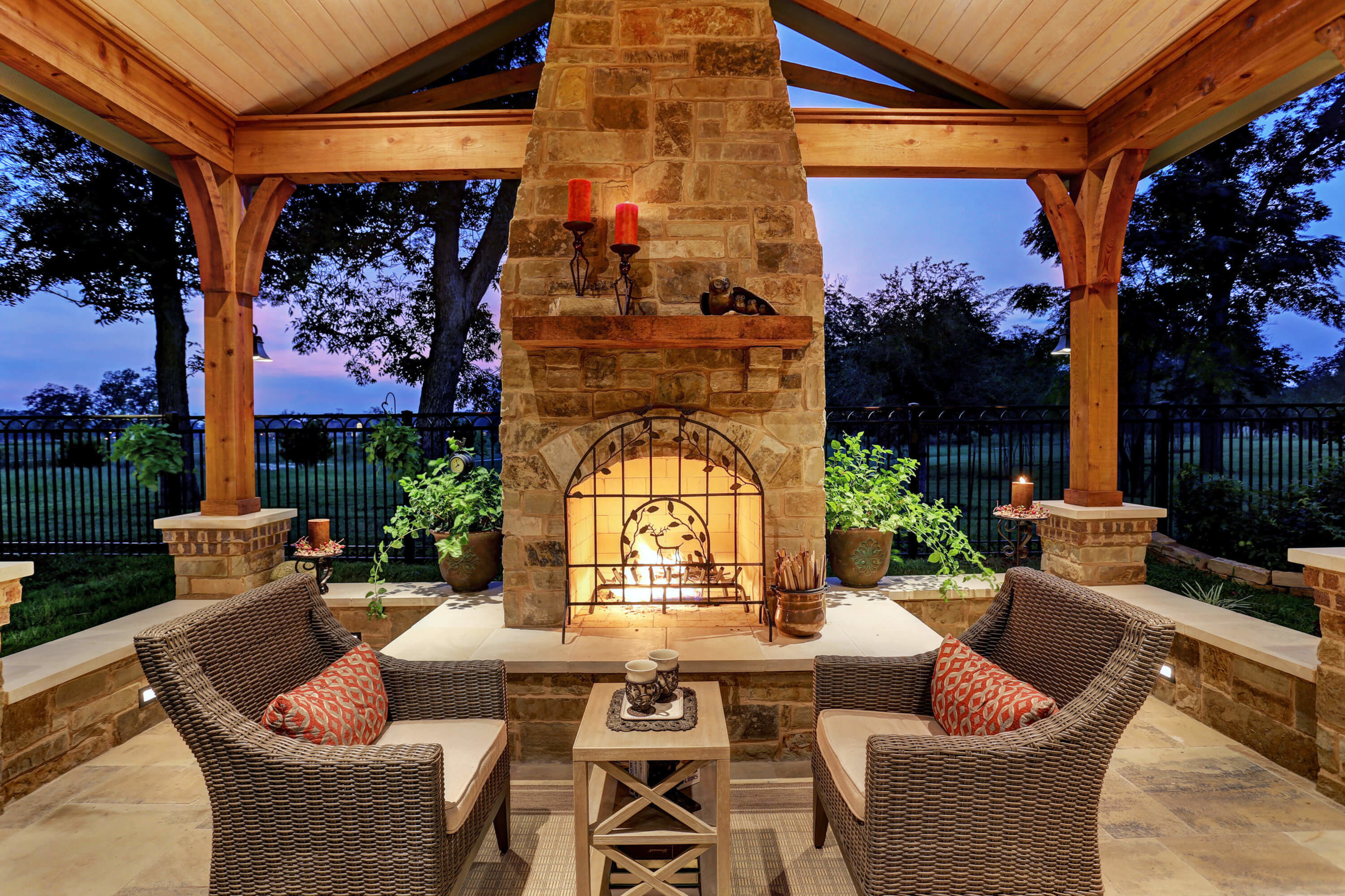 Fireplace texas custom patios - Outdoor living spaces with fireplace ...