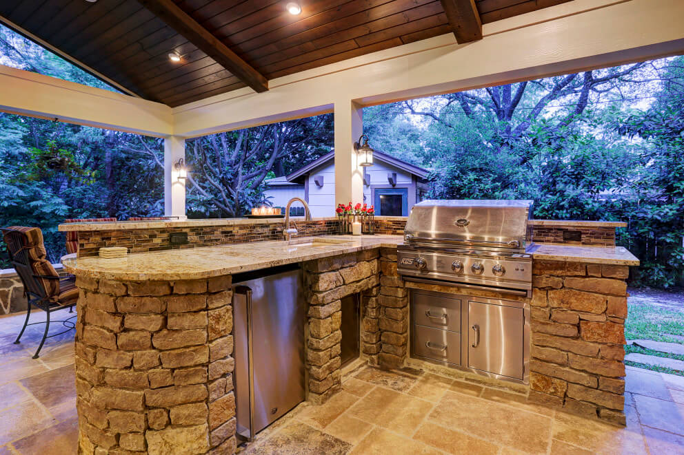 Outdoor Living In Briar Forest Area Texas Custom Patios