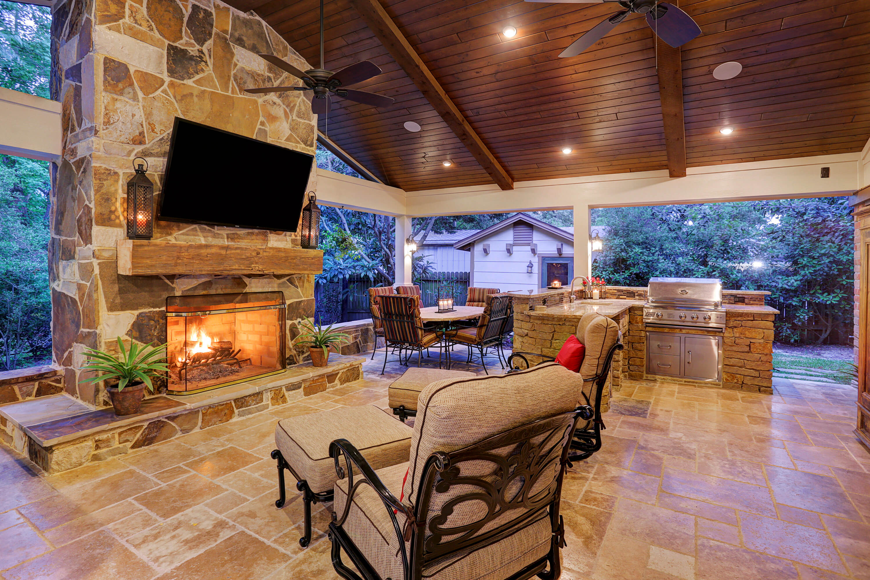 Outdoor Living in Briar Forest Area - Texas Custom Patios on Unique Outdoor Living id=39974