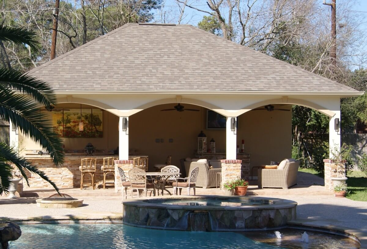 North Houston Pool Cabana Texas Custom Patios