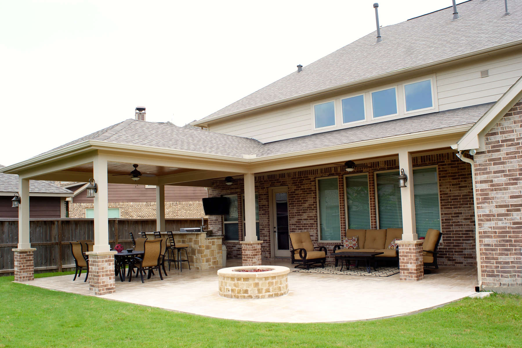 Patio Cover Katy - Cinco Ranch West - Texas Custom Patios on Covered Patio Ideas id=44219