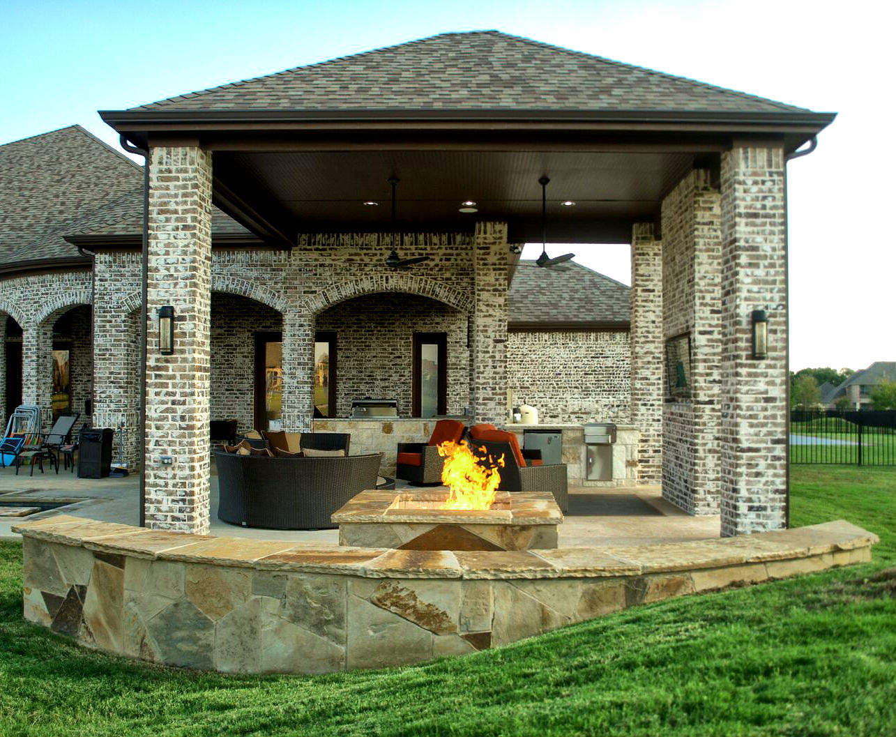 Outdoor Living Space Dallas Area - Parker - Texas Custom ... on Fancy Outdoor Living id=76958