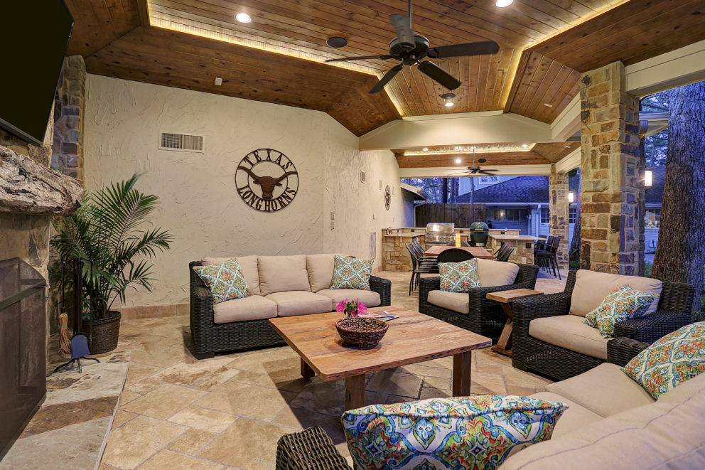 Covered patio space Houston