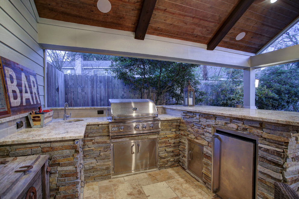 Outdoor Living And Remodeled Garage In West Memorial Texas Custom Patios