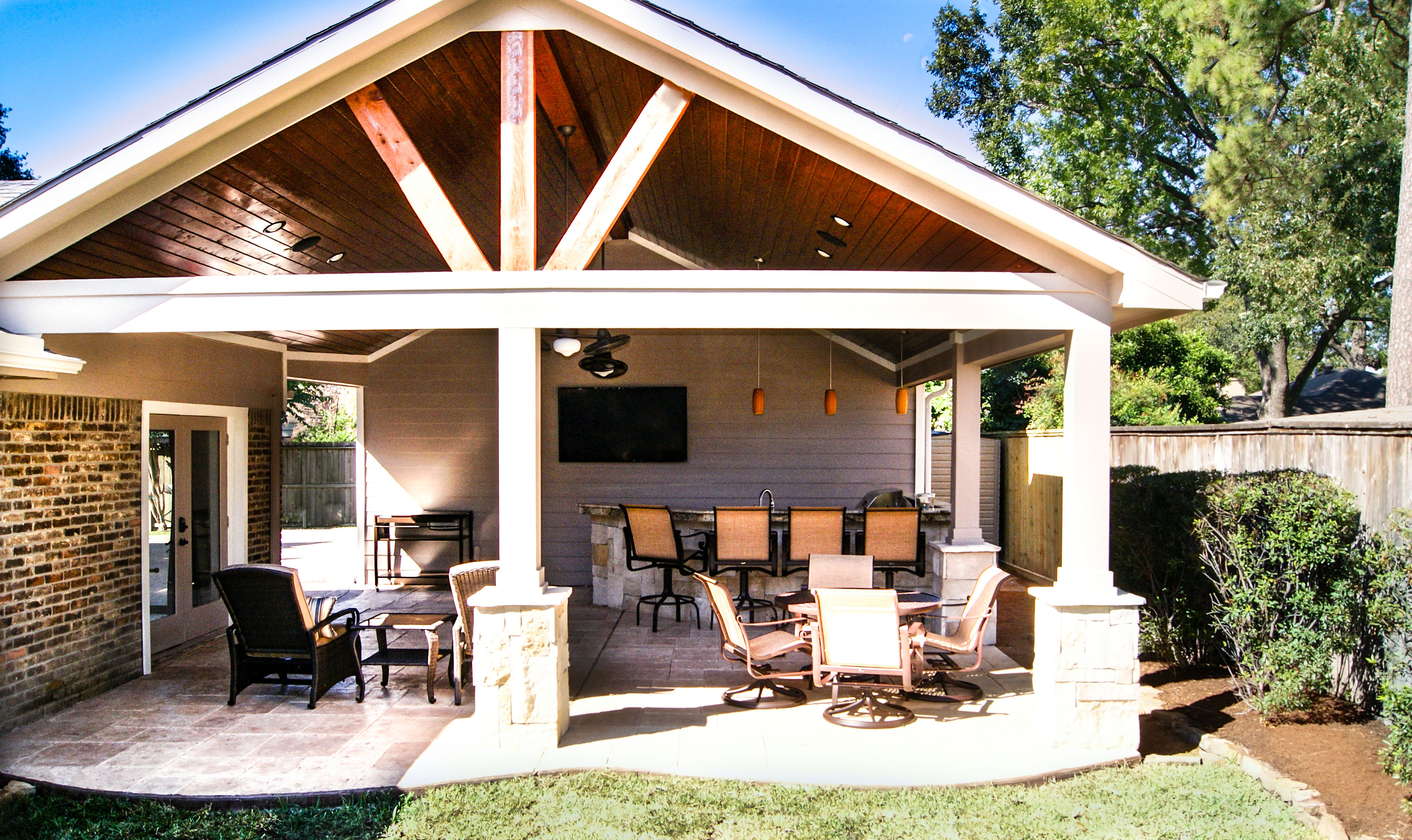 Patio Cover with Outdoor Kitchen - Texas Custom Patios on Outdoor Kitchen With Covered Patio id=66717