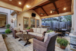 Patio cover outdoor living room Houston