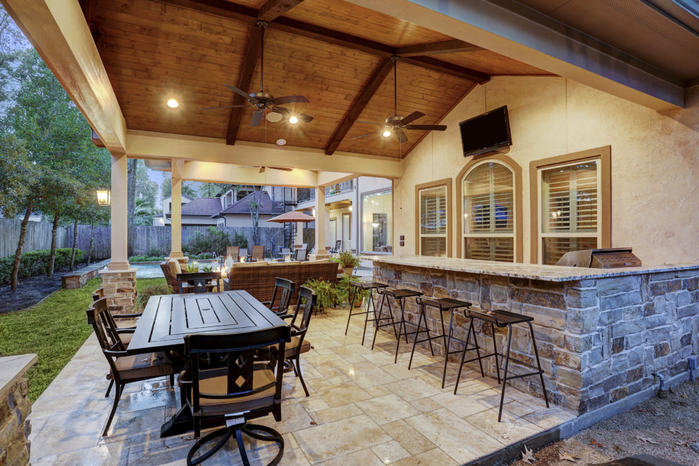 Patio cover and outdoor kitchen Houston