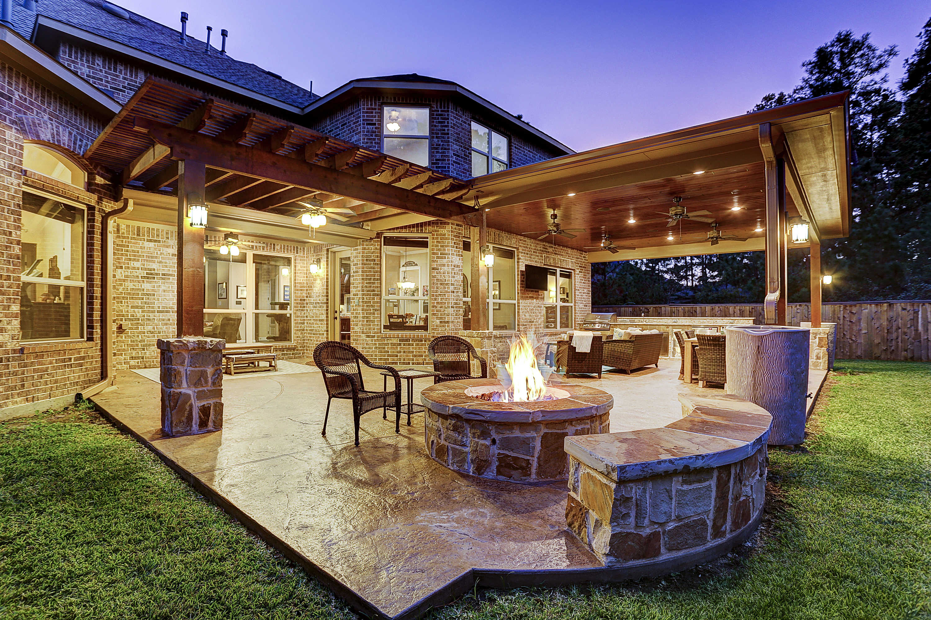 Outdoor Living Space in The Woodlands on Unique Outdoor Living id=55939