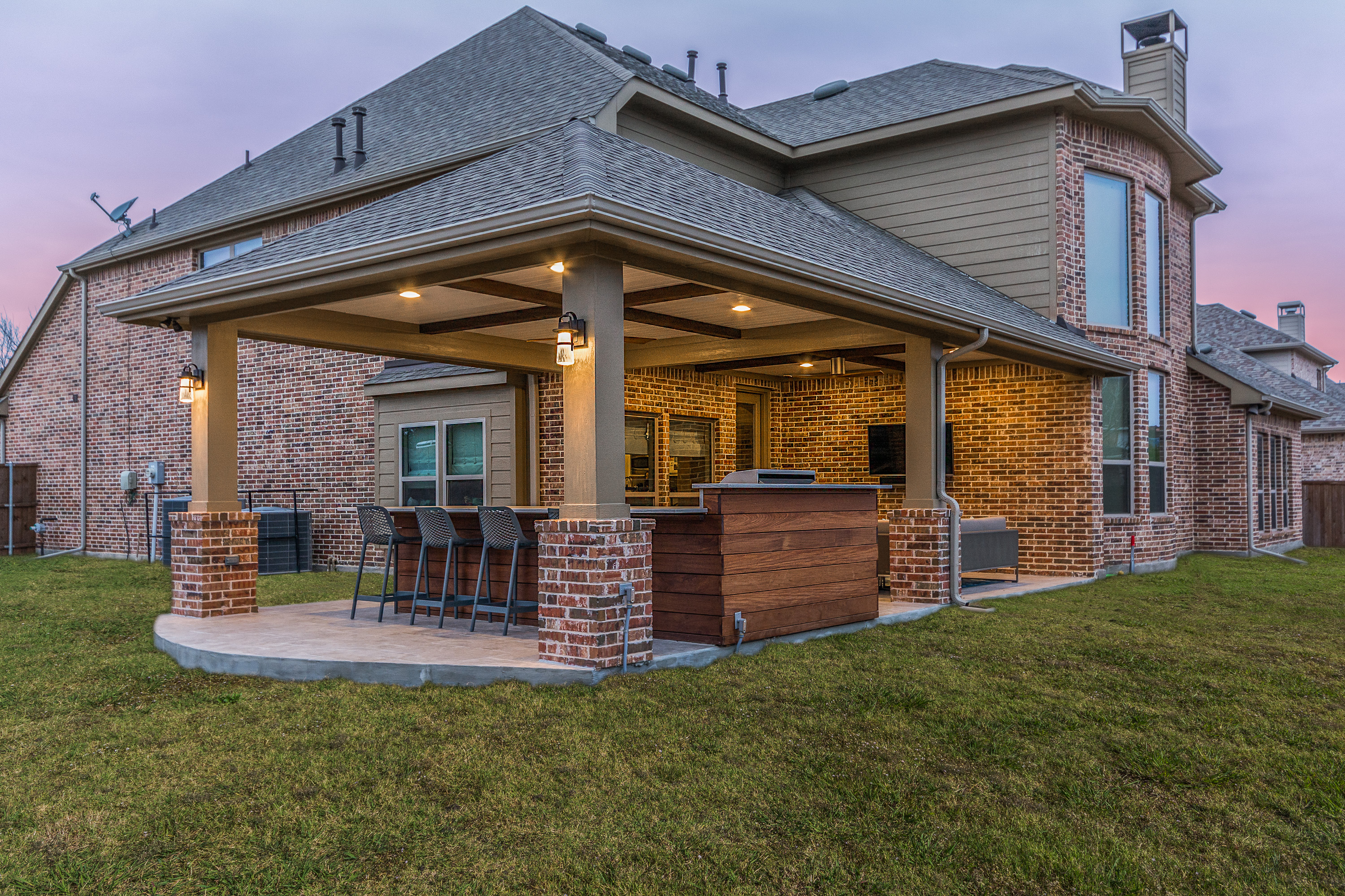 Patio Cover and Outdoor Kitchen in Coppell - Texas Custom ...