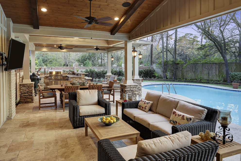 and kitchen in hunters creek memorial area texas custom patios