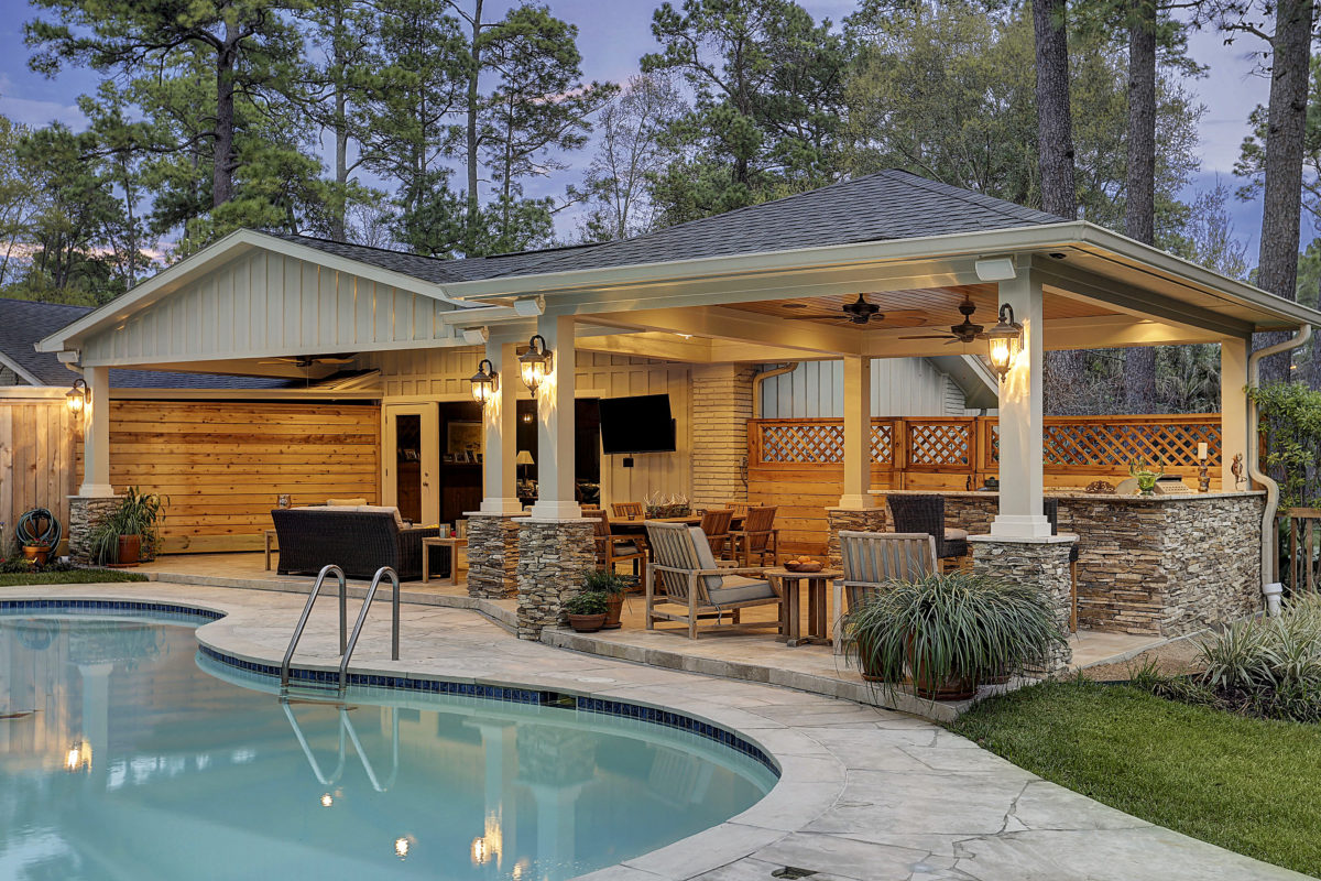 Patio Cover and Kitchen in Hunters Creek - Memorial Area ...
