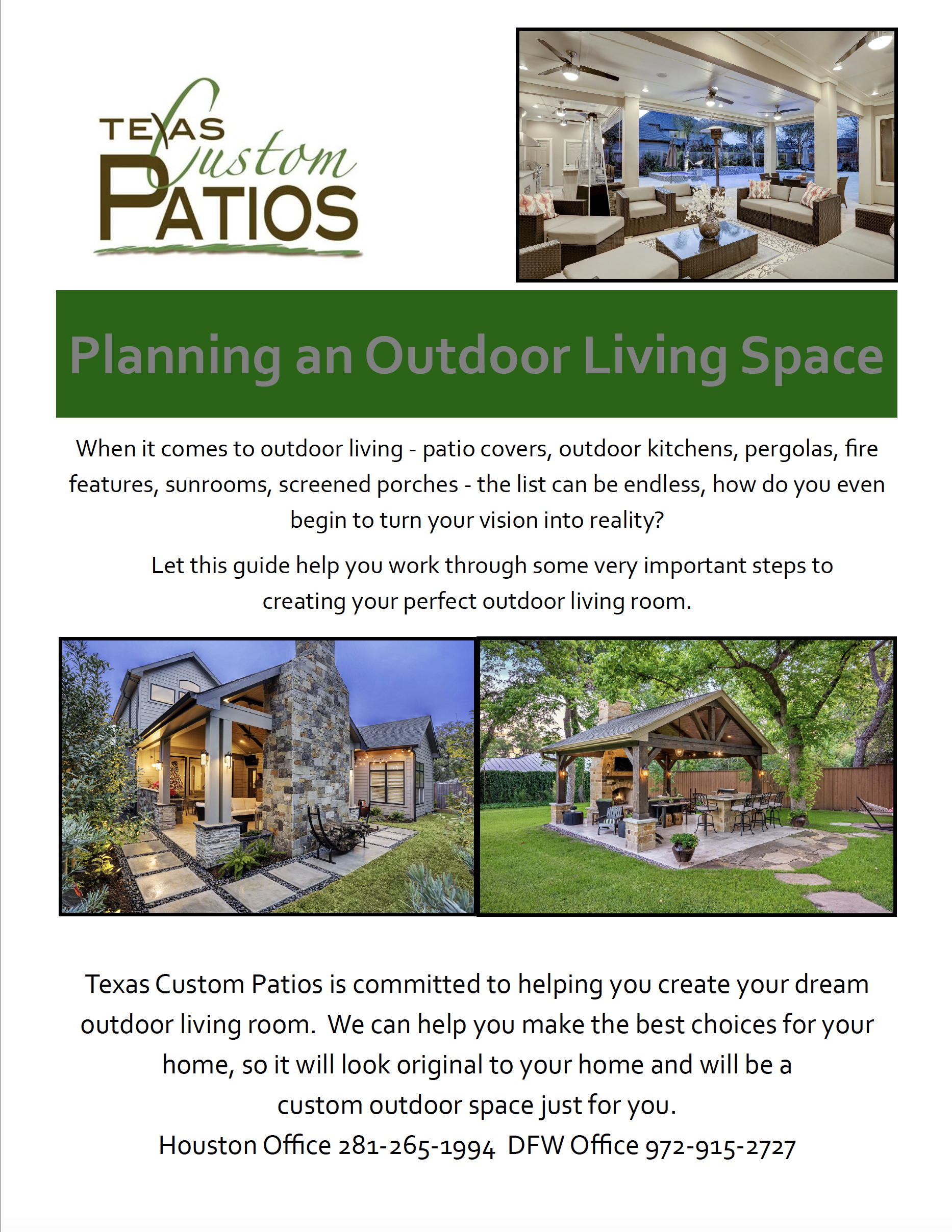 Outdoor living blog texas custom patios for Living room planning guide
